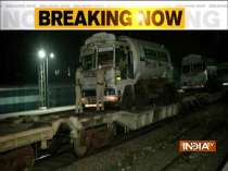 Oxygen special train with tankers of oxygen arrives at Delhi Cantt from Raigarh in Chhattisgarh