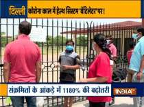 Kins of the patients unhappy with the facilities inside COVID centre in Delhi