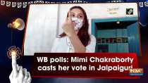 WB polls: Mimi Chakraborty casts her vote in Jalpaiguri