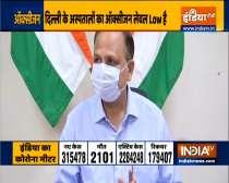 Delhi Health Minister Satyendar Jain on situation of Oxygen in Delhi hospitals