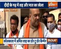Chunav Dhamaka: Amit Shah holds roadshow in Kolkata