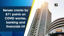 Sensex cracks by 871 points on COVID worries, banking and financials hit