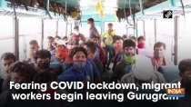 Fearing COVID lockdown, migrant workers begin leaving Gurugram