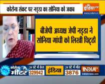 JP Nadda writes to Sonia Gandhi says Congress misleading people, creating panic in fight against COVID-19