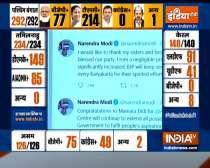 Prime Minister Narendra Modi congratulates Mamata Banerjee