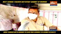 This Mumbai teacher drives auto-rickshaw to ferry Covid patients for free