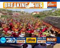 Ahmedabad: Despite COVID restrictions, women in large numbers gathered at Navapura village