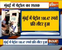 In Mumbai petrol price climbed to Rs 100.47 per liter