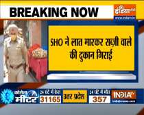 Watch Video: Punjab police SHO kicks vegetable vendor