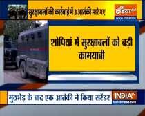 Jammu and Kashmir: 3 terrorists killed in Shopian encounter