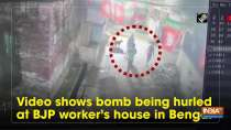 Watch: Video shows bomb being hurled at BJP worker