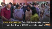 Chhatrasal Stadium: Delhi CM Kejriwal inaugurates another drive-in COVID vaccination centre
