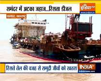 Maharashtra: Barge carrying 80,000 ltr oil suffers leakage off Palghar coast