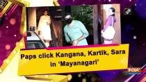 Paps click Kangana, Kartik, Sara in