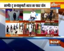 Watch Union Ministers perform yoga on International Yoga Day