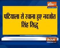 Navjot Singh Sidhu leaves from his residence in Patiala to meet Rahul Gandhi in Delhi