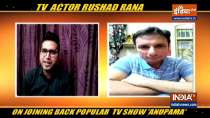 Actor Rushad Rana on re-joining the popular TV show