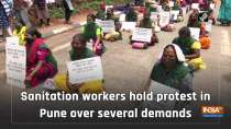 Sanitation workers hold protest in Pune over several demands
