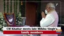 CM Khattar meets late Milkha Singh