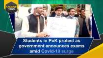 Students in PoK protest as government announces exams amid Covid-19 surge