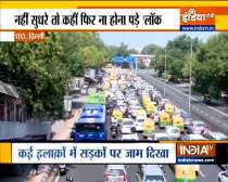 Heavy traffic spotted at ITO as COVID-19 lockdown restrictions eases in Delhi