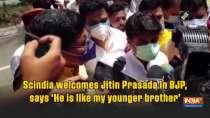 Scindia welcomes Jitin Prasada in BJP, says