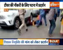 Patna: Police Lathi charge on Protest March Demanding Jobs