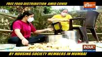 Housing society members in Mumbai distribute free food amid Covid condition