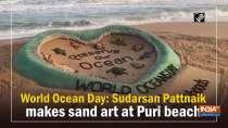 World Ocean Day: Sudarsan Pattnaik makes sand art at Puri beach