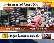 Delhi Unlock : Massive traffic jam in delhi, Watch Ground report on day 1 of unlock