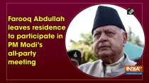 Farooq Abdullah leaves residence to participate in PM Modi