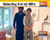 Navjot Singh Sidhu Meets Priyanka Gandhi in Delhi