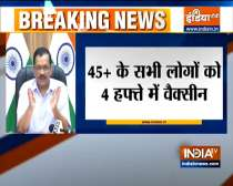 Breaking News | Covid-19 vaccination jab to all above 45 years at their polling booths: Delhi CM