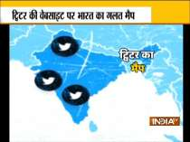 VIDEO: Twitter again shows distorted map of India on its website
