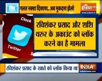 Parliamentary Panel to Twitter in two days on locking IT Minister Ravi Shankar Prasad