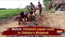 Watch: Children repair road in Odisha