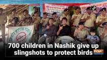 Over 600 children in Nashik give up slingshots to protect birds