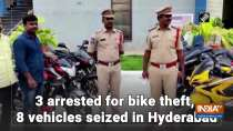 3 arrested for bike theft, 8 vehicles seized in Hyderabad