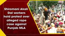 Shiromani Akali Dal workers hold protest over alleged rape case against Punjab MLA
