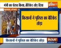 Haryana: Clash between protesting farmers & police takes place in Yamuna Nagar