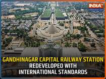 A modernised Gandhinagar Capital railway station all set to welcome passengers