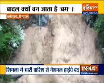 Flash flood hits Bhagsu Nag, Dharamshala due to heavy rainfall