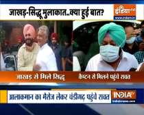 Punjab: Harish Rawat arrives at Chandigarh to meet Punjab CM Capt Amarinder Singh