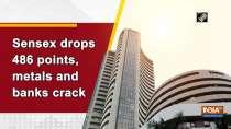 Sensex drops 486 points, metals and banks crack