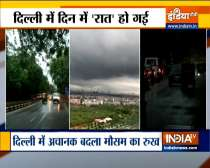 Top Breaking News | Parts of Delhi witness heavy rains with waterlogging in several areas