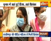 Priyanka Gandhi meets Anita Yadav in Lakhimpur Kheri, Says- such a thing should never happen with any woman