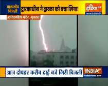 Watch: Lightning strikes famous Dwarkadhish temple in Gujarat
