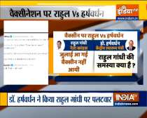 Tweet war between Rahul Gandhi and Dr. Harsh Vardhan over Vaccine availability