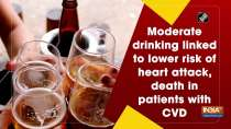 Moderate drinking linked to lower risk of heart attack, death in patients with CVD