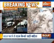 Himachal flash flood: Badrinath highway closed due to landslide